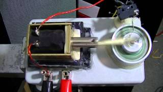 Single Cylinder Solenoid Engine with Mechanical Switch