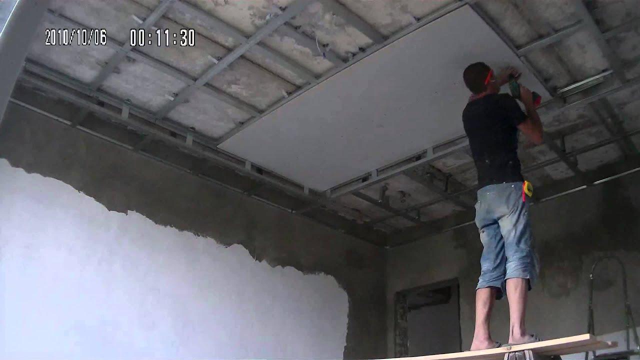 Потолок из ОСБ плит - m