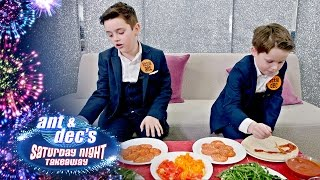 Little Ant and Dec Play Pizza Portraits!