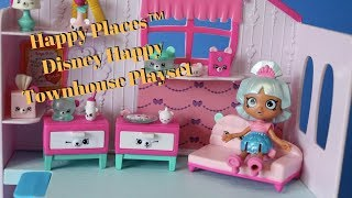 Opening Shopkins Happy Places Disney Townhouse Playset - Unboxing and Playtime