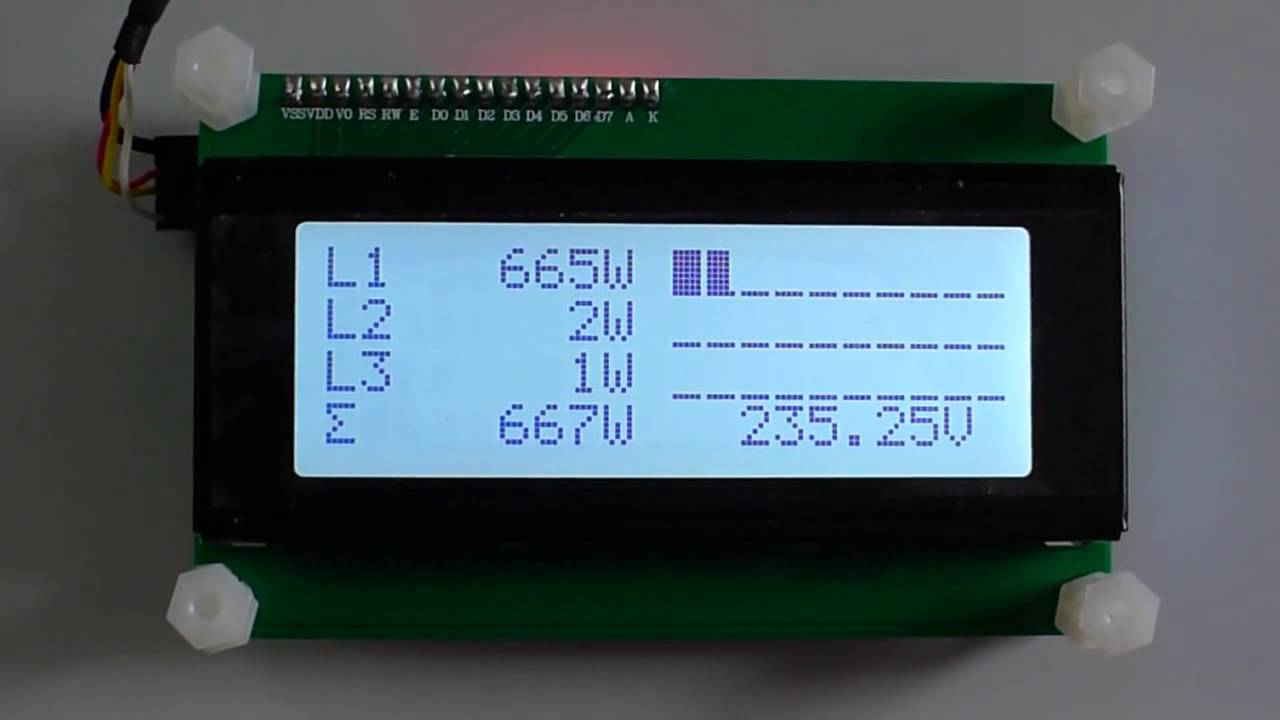 Arduino Current 3 Phases Sensor With Lcd Display