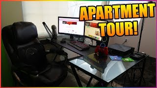 JUST OUT OF HIGH SCHOOL AND LIVING ON MY OWN! My Gaming/YouTube Apartment Setup Tour! (2018)