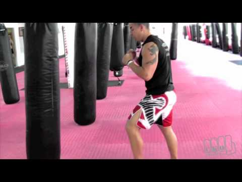 3 Jabs Cross Roundhouse Kickboxing Heavy Bag Workouts with Michael Andreula Image 1