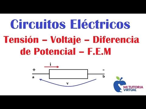 Tensión -  Voltaje - Diferencia de Potencial - F.E.M - Voltage - Electromotive Force