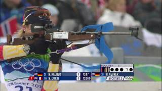 Women's Biathlon - 7.5Km Sprint Highlights - Vancouver 2010 Winter Olympic Games
