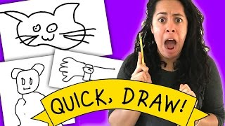 Playing a drawing game against a ROBOT! (Quick, Draw!)