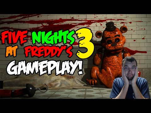 FNAF 3 - ALL FIVE NIGHTS & ENDING - Five Nights At Freddy's 3 Gameplay (Official)