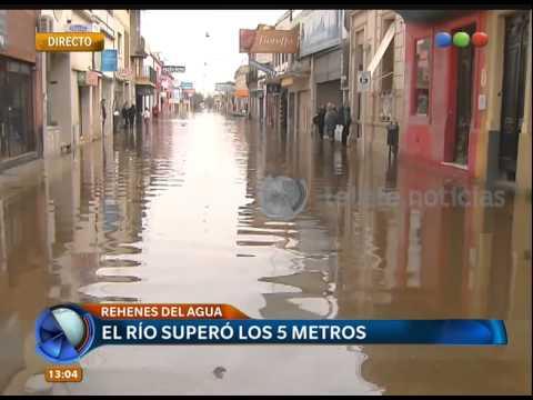 Sigue creciendo el nivel del río en Luján - Telefe Noticias