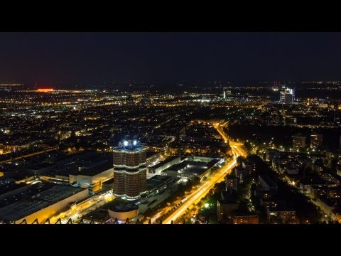 4K timelapse - Munich City of Lights