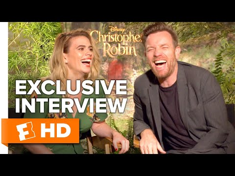 Ewan McGregor Finds Hayley Atwell's Ventriloquist Talent Hilarious | 'Christopher Robin' Interview