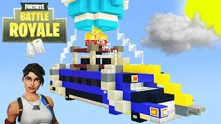 Minecraft Tutorial: How To Make The Fortnite Battle Bus In Minecraft