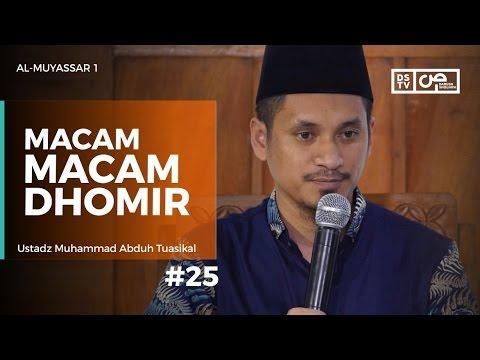 Al Muyassar (25) : Macam Macam Dhomir - Ustadz M Abduh Tuasikal