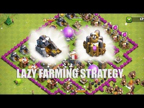 Clash of Clans - Part 18 - Lazy Farming!!