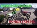 Honda CRF250L vs Kawasaki KLX250