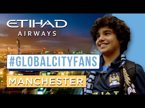 Welcome to Manchester | #GlobalCityFans visit the Etihad Stadium