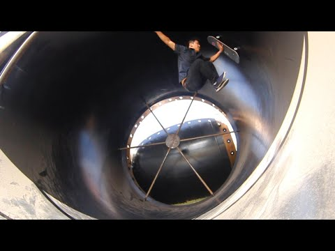 Skating In A Giant Fullpipe Tube Thing