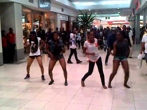 FlashMob or FlashDance of Girls Students at Shoprite,Ikoyi, Lagos, Nigeria, Africa.