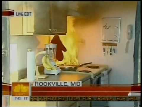 Nbc today show kitchen fire safety apr 23 2007 youtube for 6 kitchen safety basics