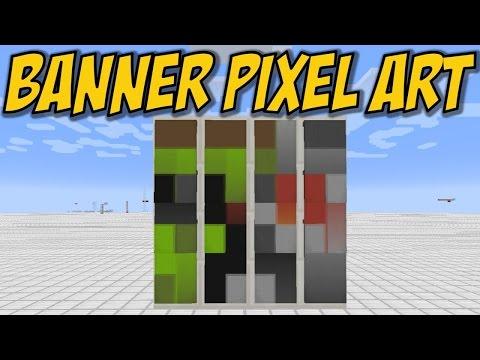 Minecraft Banner Pixel Art — Docm77 Avatar