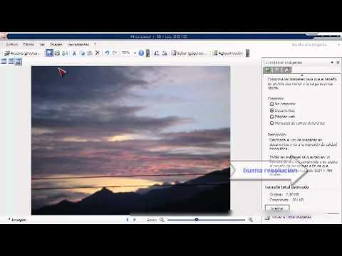 como comprimir imagenes con microsoft office 2010
