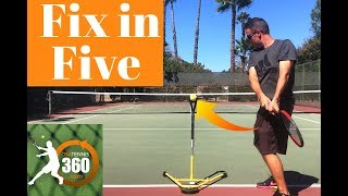 How to Fix Your Two Handed Backhand in 5 Minutes or Less | Tennis Two-Handed Backhand Lesson