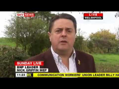 [1/2] Nick Griffin On Sky News (18th October 2009)