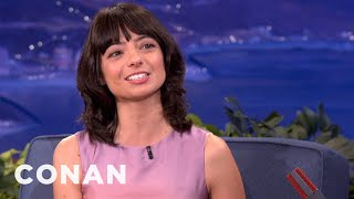 kate micucci knows exactly what her last name sounds like   conan on tbs