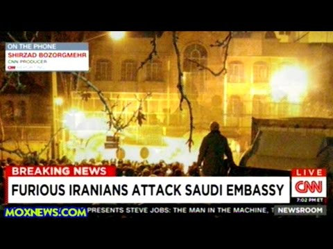 Angry Protesters Torch Saudi Arabian Embassy In Tehran!