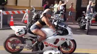 Women Riding at Daytona Bike Week 2019