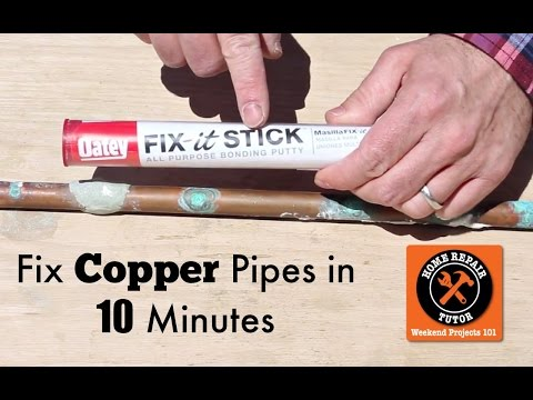 How to Fix a Pinhole Leak in a Copper Pipe -- by Home Repair Tutor