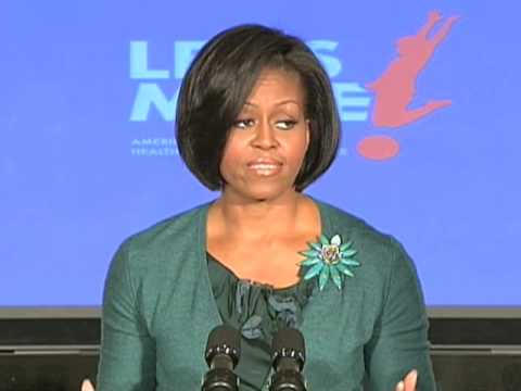 US First Lady Michelle Obama Unveils Initiative to Battle Childhood Obesity