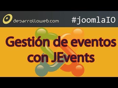 Gesti�n de eventos en Joomla con JEvents #JoomlaIO