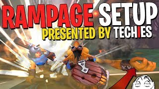 The Techies Rampage Setup - DotA 2 Funny Moments
