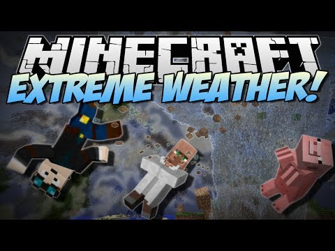 Minecraft   EXTREME WEATHER! (Tornadoes. Giant Waves & More!)   Mod Showcase