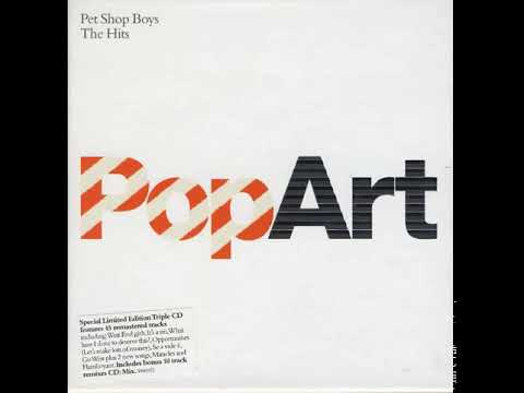 Pet Shop Boys - PopArt (The Hits) limited edition front cover