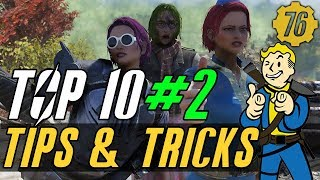 Fallout 76 TOP 10  TIPS & TRICKS 2: Guide #Fallout76
