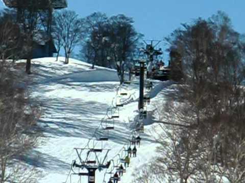 野沢温泉スキー場上ノ平ゲレンデの様子 2011年2月3日