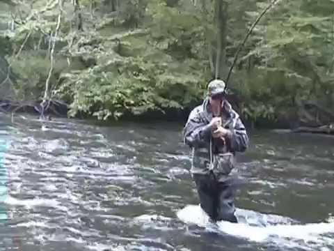 Salmon River Fishing Pulaski NY 2011  MR T on a king