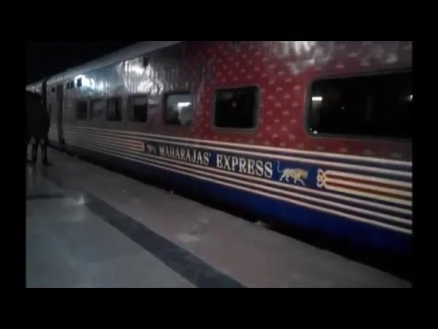 Worlds most Luxurious The Maharaja's Express at Udhna