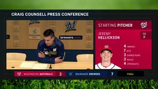Counsell: Burnes, Jeffress changed things for Brewers' bullpen