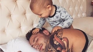 Cute Babies Kids Trying to wake up Daddies Compilation 2018