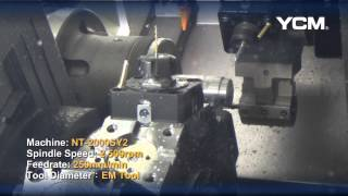 YCM NT-2000SY2 Cutting Demonstration