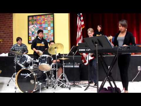 YMCA performed by the Mears Middle School Jazz Band