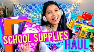 BACK TO SCHOOL SUPPLIES HAUL 2016 - 2017 | School Supplies Haul 2016 | Back to School Supplies Haul