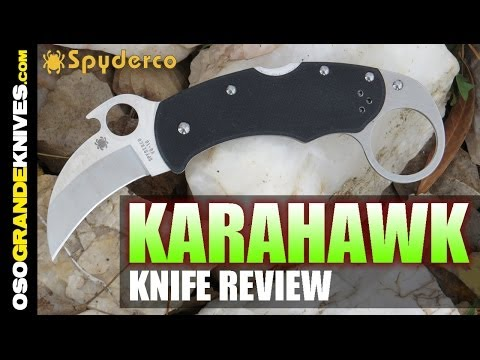 Spyderco Karahawk Karambit C170GP Defensive Knife Review   OsoGrandeKnives