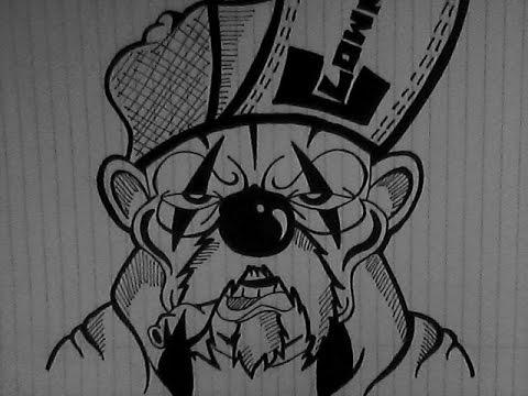 Dibujando un Payaso con Cigarro(personaje graffiti) - YouTube