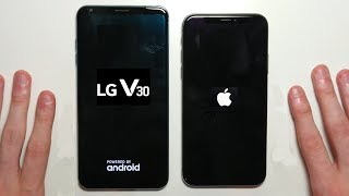 iPhone X vs LG V30 Speed Test and Camera Comparison!