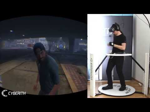 GTA 5 in VR Cyberith VIRTUALIZER + Oculus RIFT Part 1: The Police Chase
