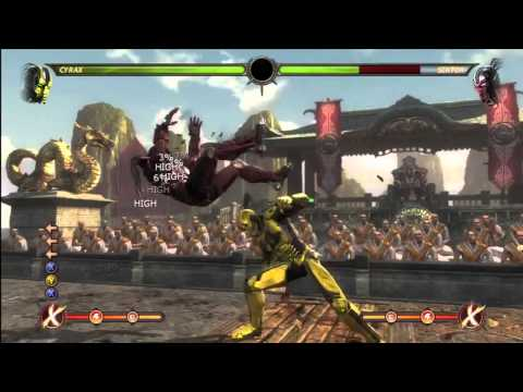 Mortal Kombat | Cyrax Expert Combo Video Part 1
