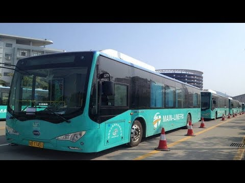 Shenzhen is the symbol of China's massive drive to electrify its buses.